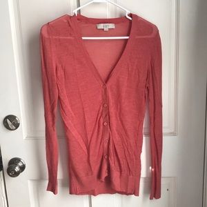 Burnt orange v-neck cardigan